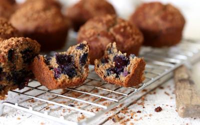 Blueberry, Apple & Buckwheat Muffins