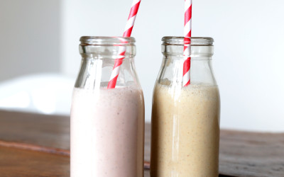 Salted Caramel & Strawberry Flavoured Cashew Milks