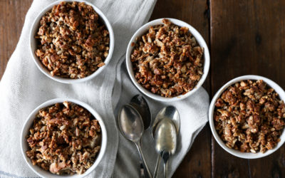 Feijoa and Pear Crumbles