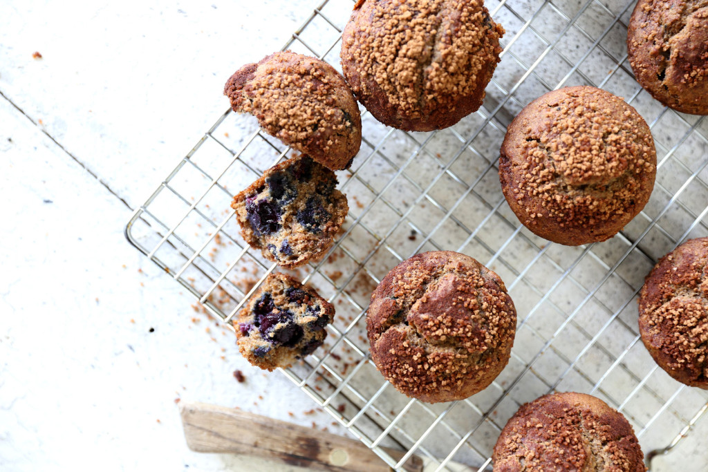 Blueberry, apple & buckwheat muffins - swoonfood.com