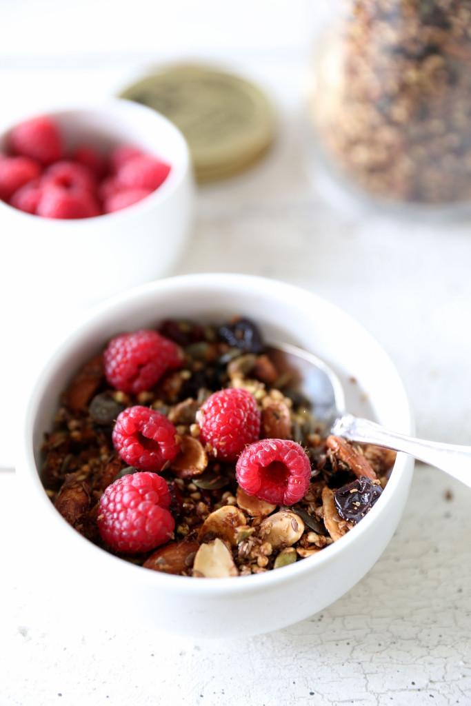 Maple and Cinnamon Buckwheat Granola (Oat free) by swoonfood.com