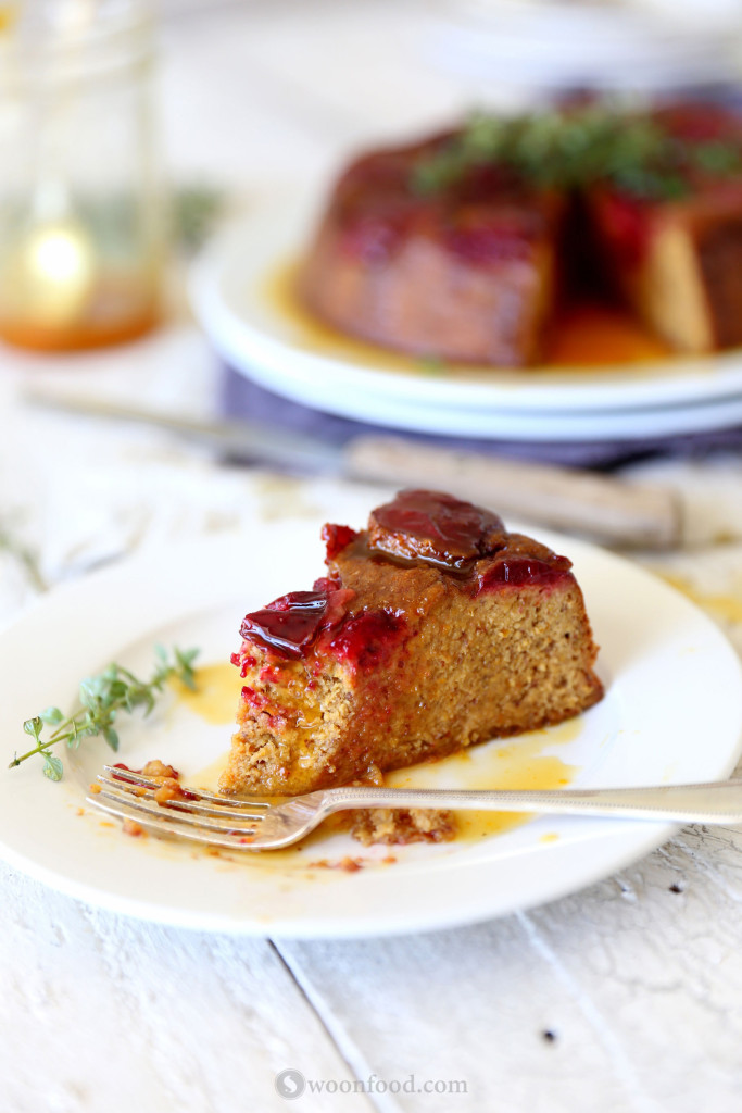 Plum and Orange Ginger Cake with Thyme Syrup - swoonfood.com