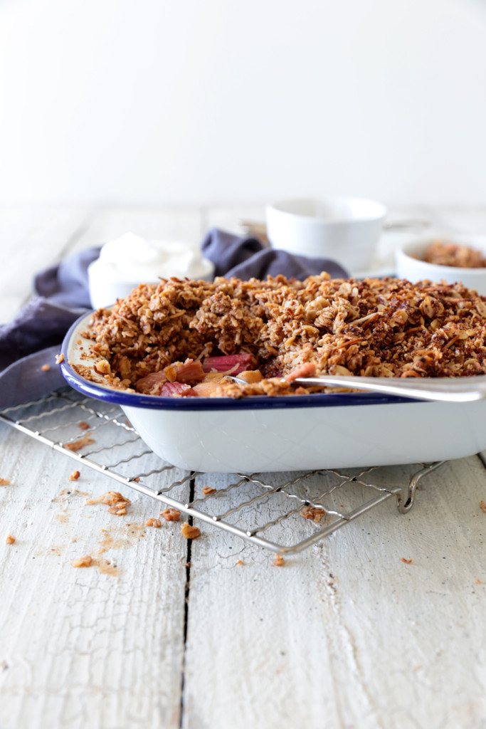 Apple and rhubarb crumble - a dairy free recipe