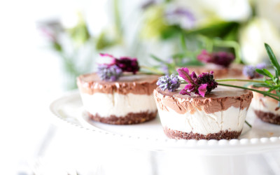 Raw Chocolate & Vanilla Coconut Swirl Cheesecake