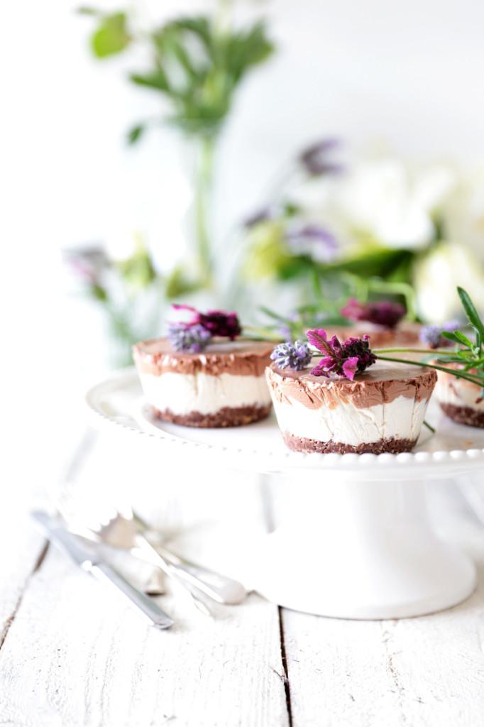 Raw Chocolate & Vanilla Coconut Swirl Cheesecake