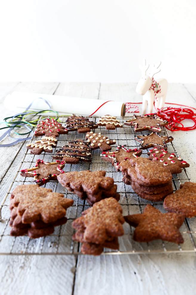 Festive Christmas Cookie with Cashew Cream Icing
