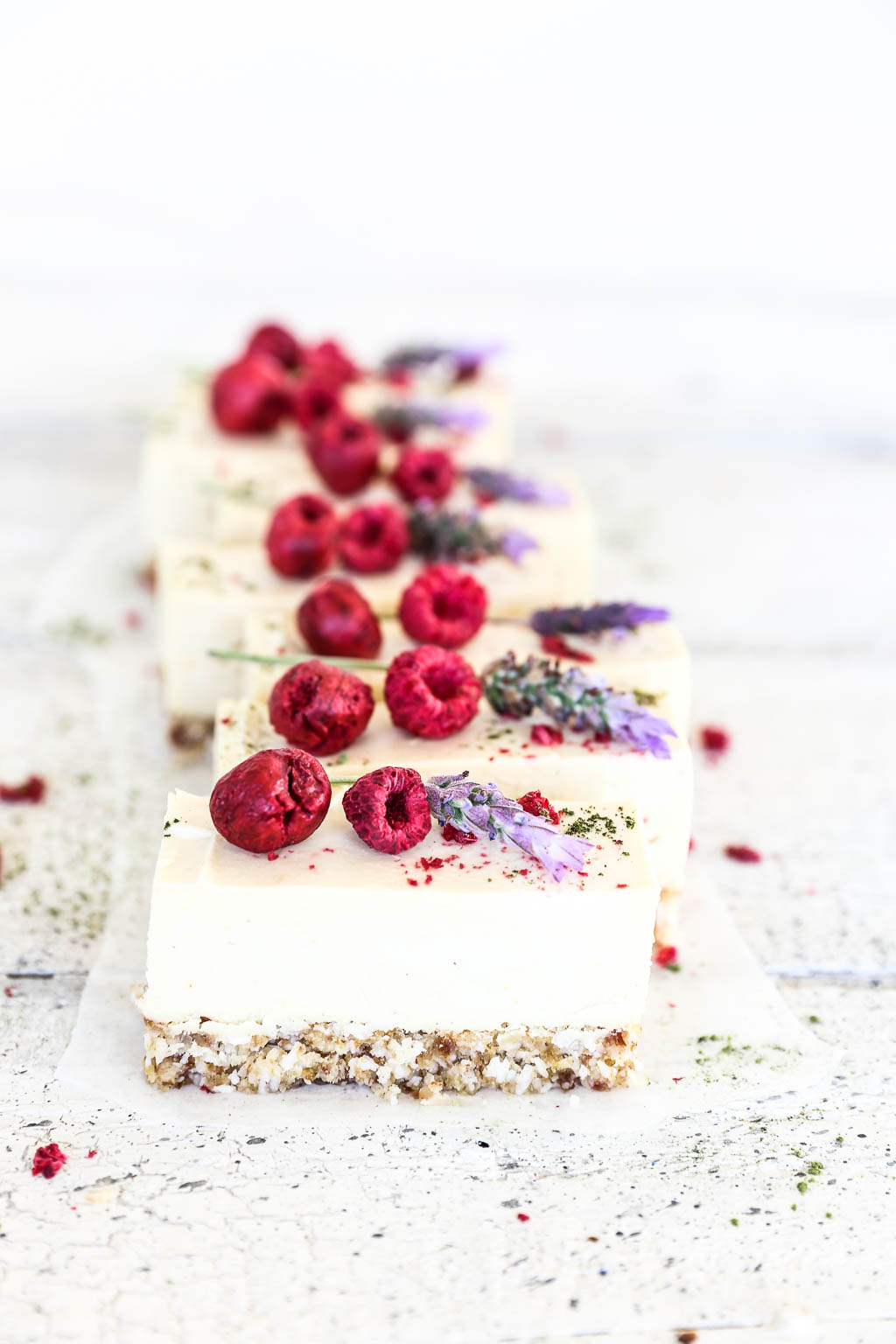 Zesty Raw Lemon & Coconut Cheesecake