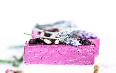 Raw Boysenberry & Vanilla Bean Cheesecake