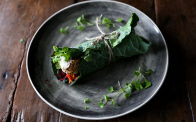 Collard Greens Felafel Wraps