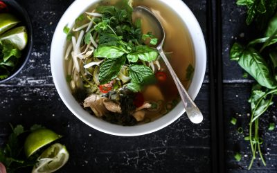 Chicken Pho (Pho Ga) with Zoodles