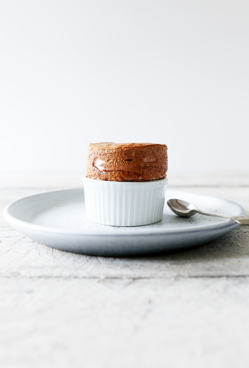 Caramelised Rhubarb Soufflé's with Coconut Caramel Anglaise