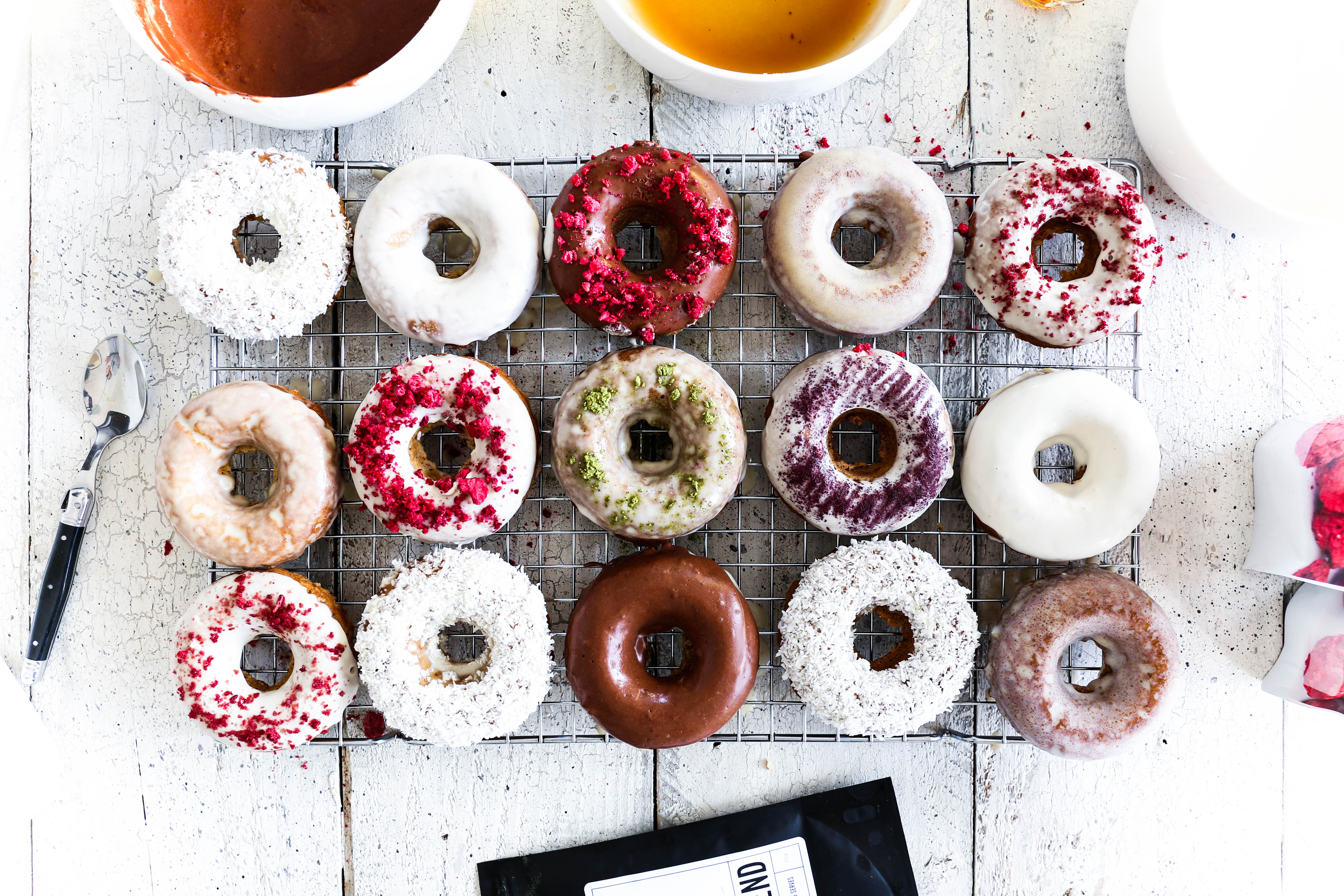 Spiced Vanilla Cake Donuts - Swoonuts