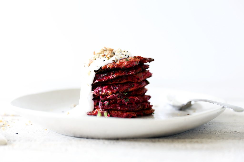 Beetroot and Zucchini Fritters