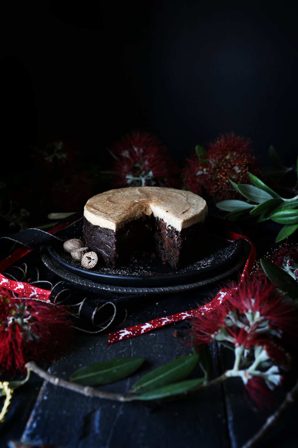 Last Minute Christmas Cake with Eggnog Frosting