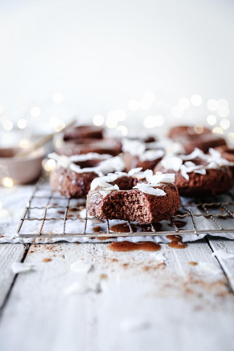 Christmas Spice Swoonuts with Cinnamon & Orange Glaze