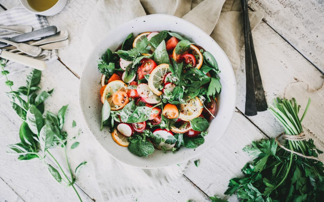 Grilled Lemon & Watermelon Herb Salad
