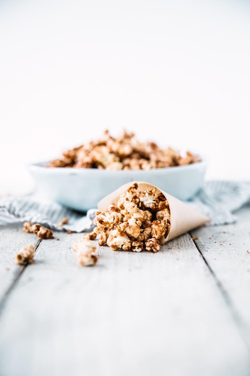 Peanut Butter & Cinnamon Caramel Popcorn