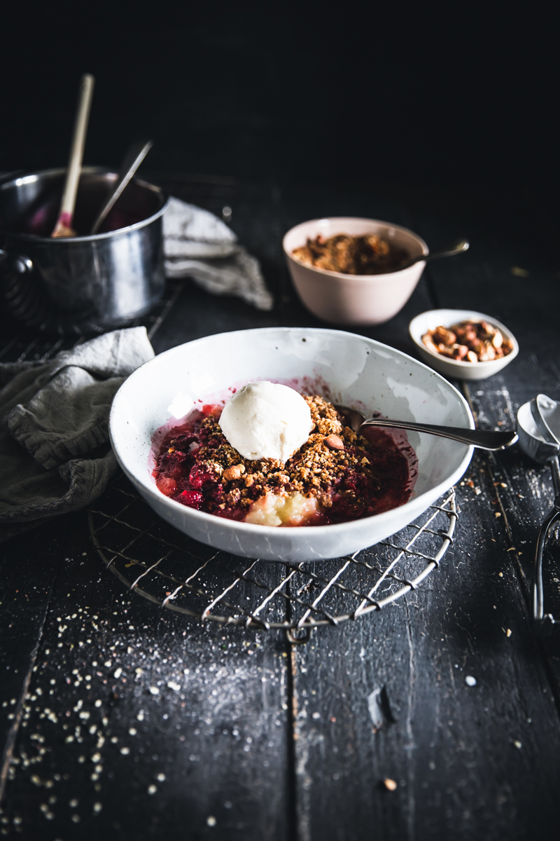 Apple & Raspberry Hemp Seed Crumble