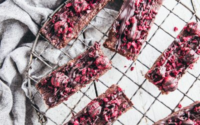 Raw Cacao & Brazil Nut Hemp Slice with Sour Cherries