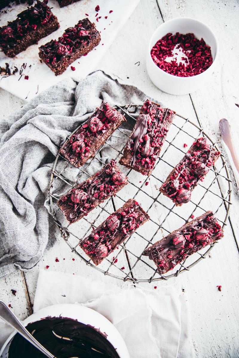 Raw Cacao & Brazil Nut Hemp Slice with Sour CherriesRaw Cacao & Brazil Nut Hemp Slice with Sour Cherries