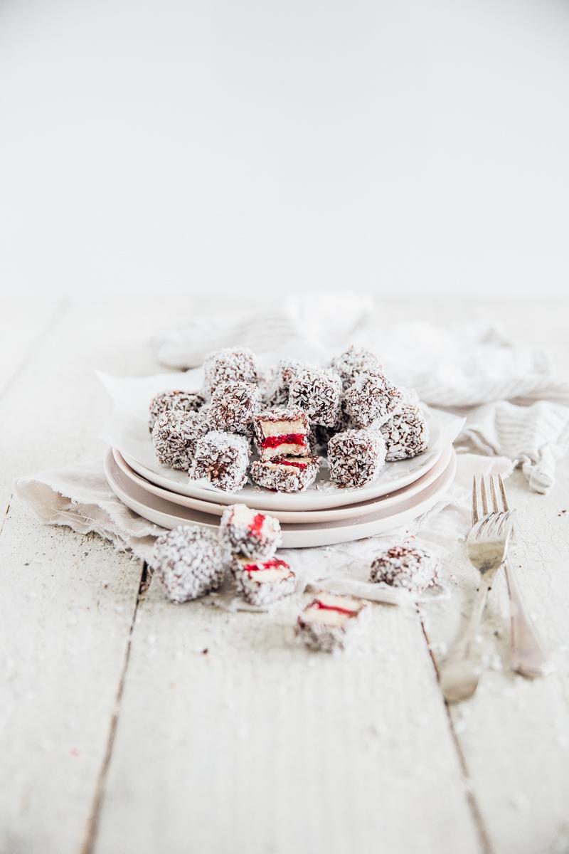 Raw Chocolate & Raspberry Mini Lamingtons