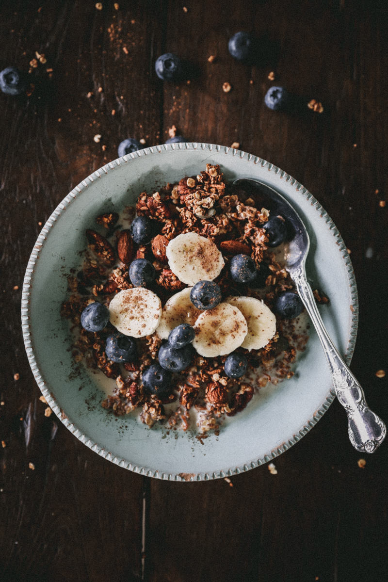 Crunchy Maple Banana Granola