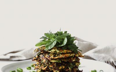 Carrot and Zucchini Herb Fritters