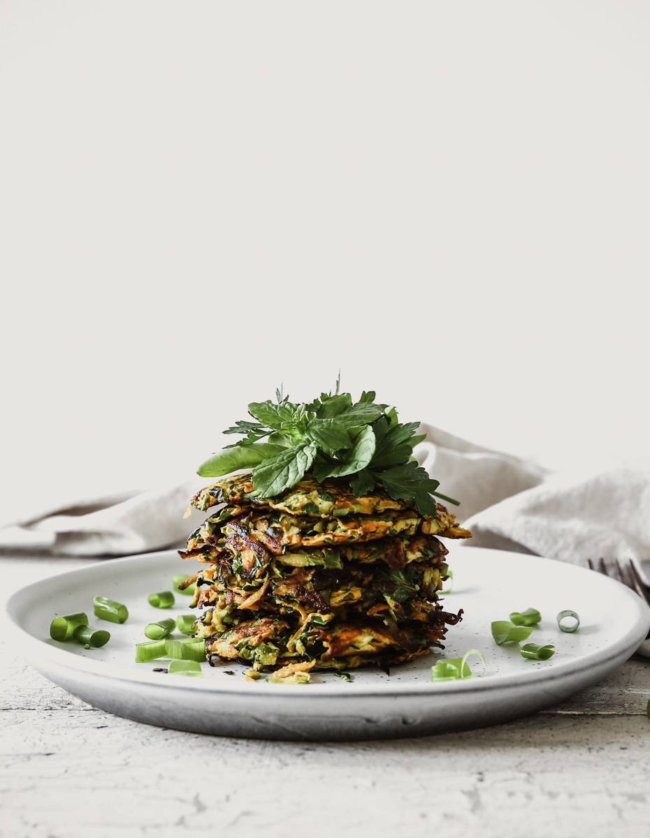 Carrot & Zucchini Herb Fritters