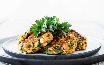 Cashew Kumara Patties with Coriander, Ginger and Chilli