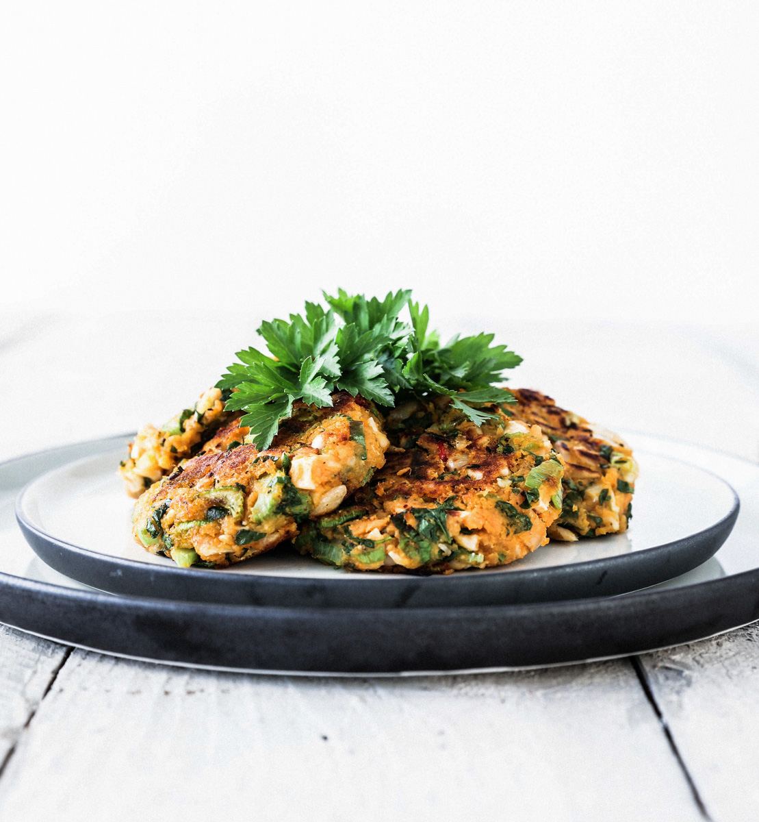 Cashew Kumara Patties with Coriander & Ginger