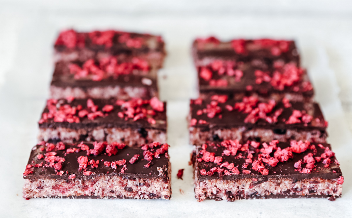 Homemade Cherry Ripe Bars