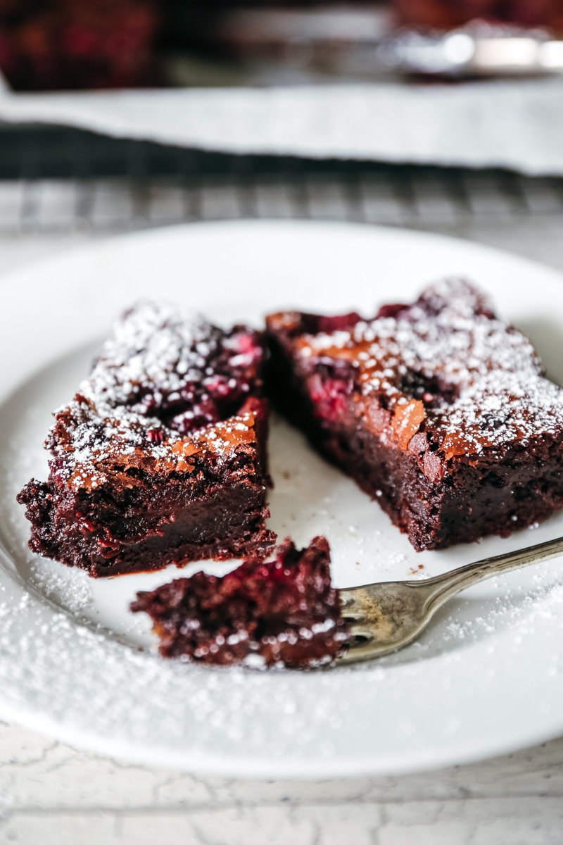 Decadent Dark Chocolate & Raspberry Brownie