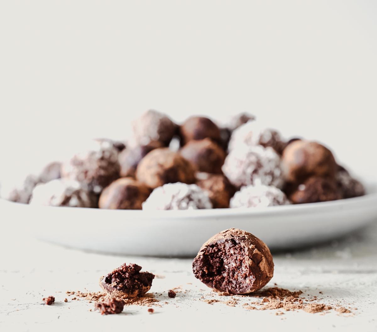 Nutty Chocolate Truffles