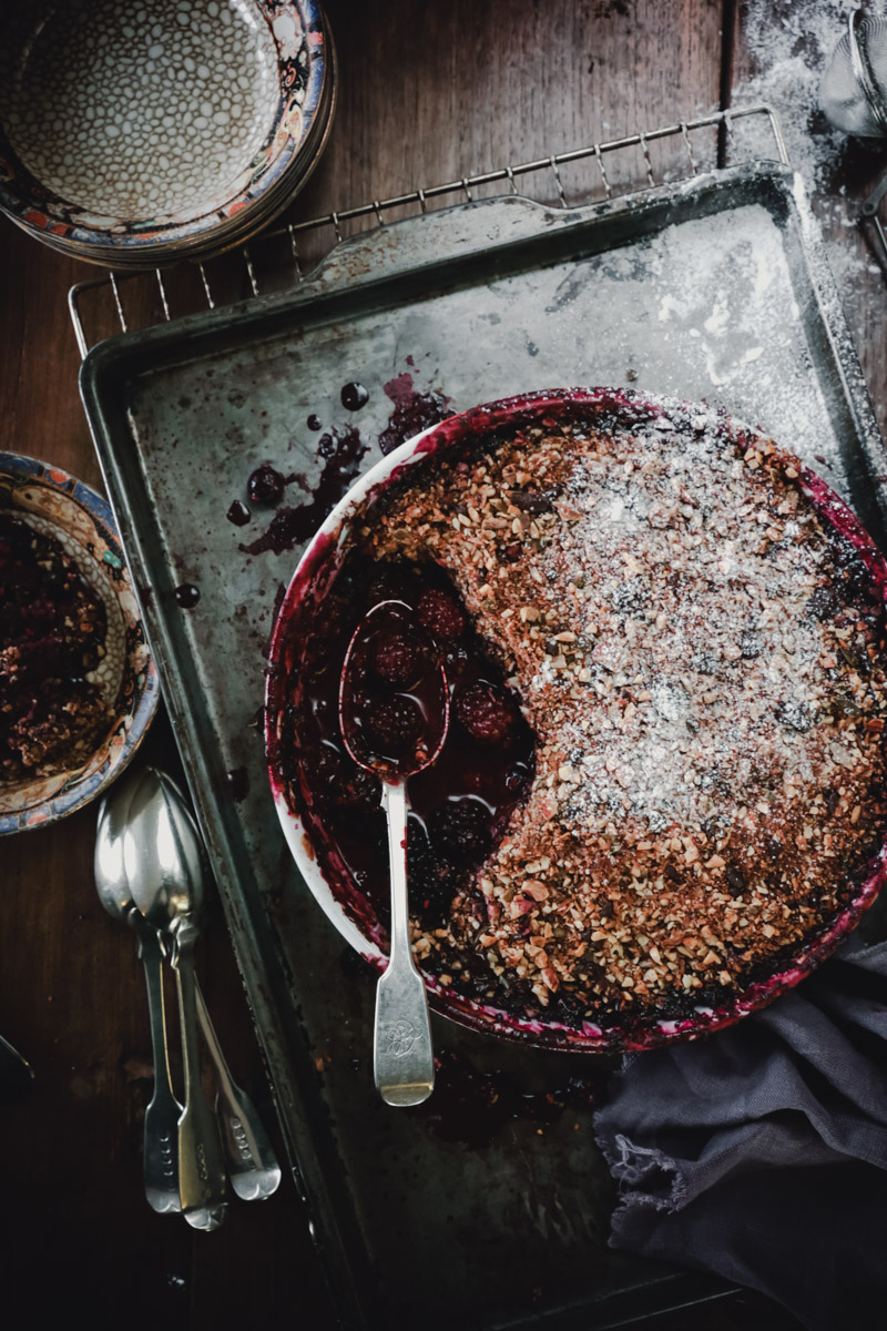 Black Forest Fruit Crumble