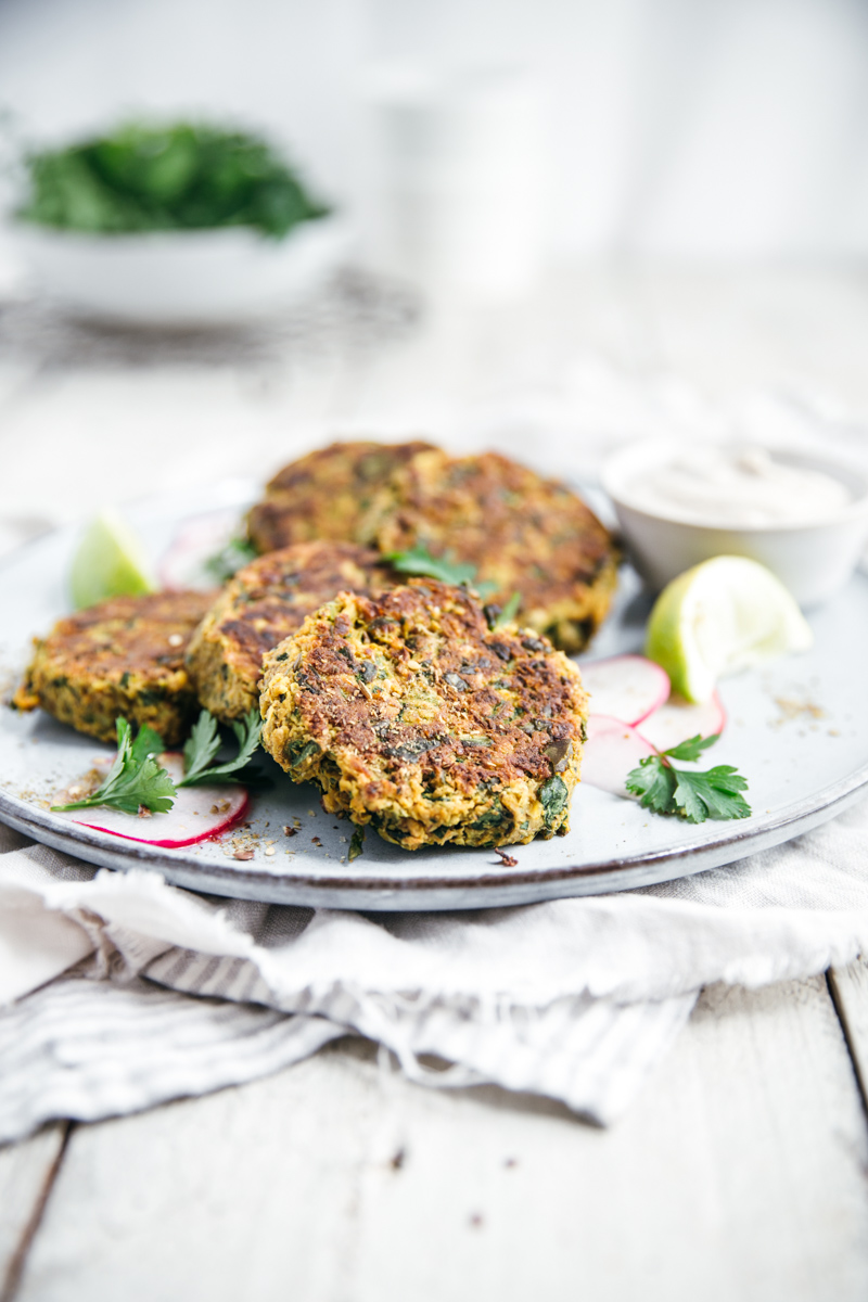 Chickpea & Spinach Patties
