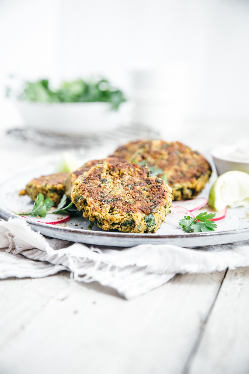 Chickpea & Spinach Fritters