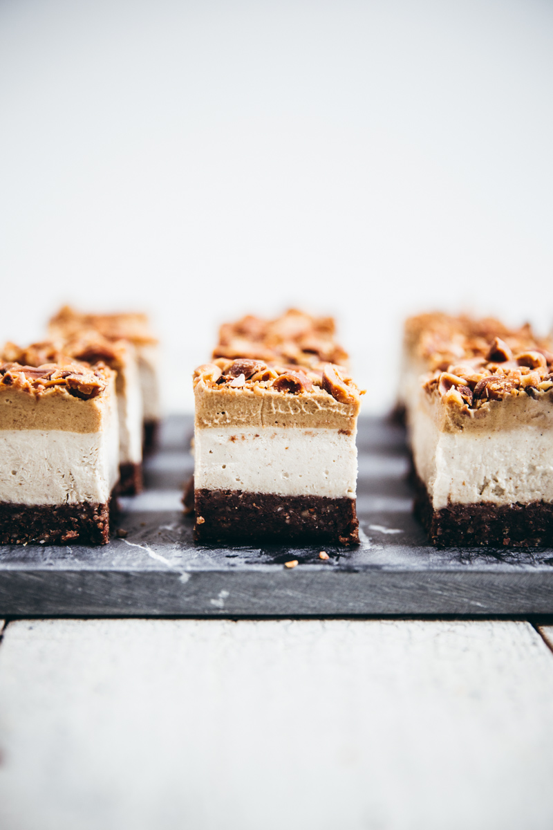 Raw Snickers Ice Cream Slice