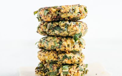 Sweet Potato & Spinach Quinoa Cakes