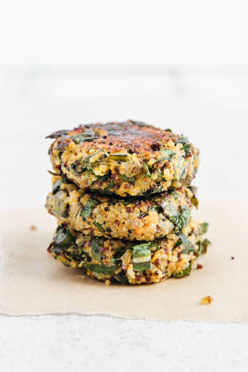 Sweet Potato & Spinach Quinoa Fritters